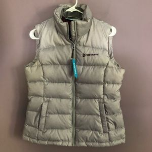 Free Country Down Puffer Vest Gray Size M